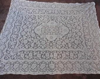 Vintage lace table cloth 71 x 55 1/2