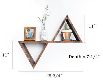 Infinity Triangle shelf