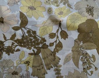Vintage Floral Cotton Voile