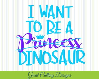 Princess SVG Cut File, Dinosaur SVG DXF Cricut svg Silhouette svg Vinyl Cut File Digital cut file Cricut cut file Silhouette Cut file girls
