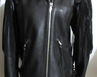 NEW Womens Ladies HARLEY DAVIDSON Black Leather Limited Edition Springer Hawk Motorcycle Jacket  M
