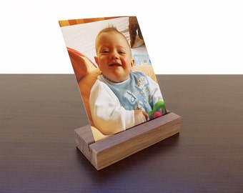 Wood Photo Holder. Wooden Postcard Holder. Wood Postcard Holder. Wood Card Holder. Office Card Display. Walnut Card Holder.