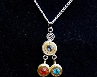 Hand Crafted Casing Necklace (3 Pendant)