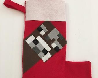 Minecraft stocking | Etsy