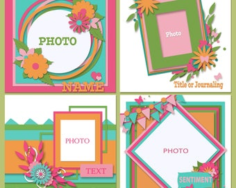 Beautiful Basics Scrapbooking Templates
