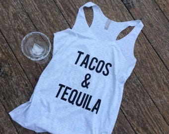 Tacos and tequila | tequila lover shirt | taco lover shirt | Mother's Day gift | gifts for her | alcohol lover shirt | funny graphic shirt