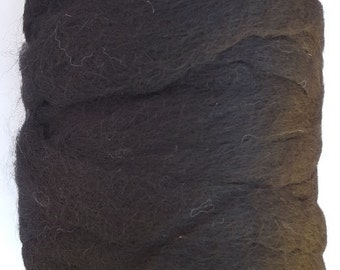 Alpaca Roving - Black .25 oz