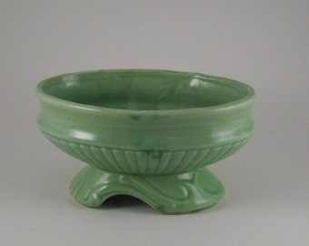 McCoy Pottery, Scroll Footed Mint Green