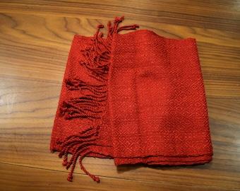 Crimson Silk Thai Scarf