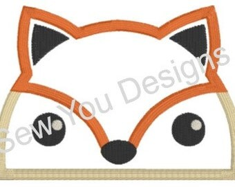 Fox Hooded Towel Applique and Embroidery Design, Machine Embroidery, Instant Digital Download, 4x4, 6x6, Formats: PES HUS JEF and more