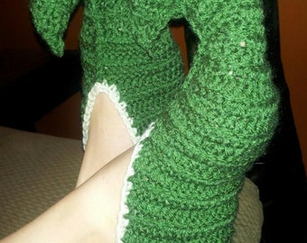 Crochet Elf or Elven Slippers Pattern