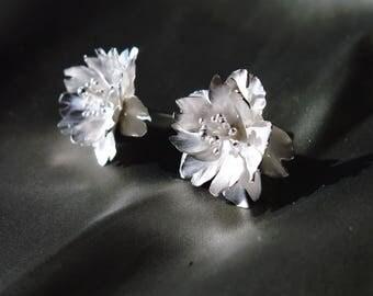 Season-Cherry Blossoms/ Stud Earrings/ double petals#1