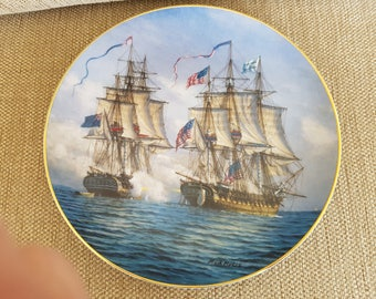Great British sea battles plate by Mark Myers