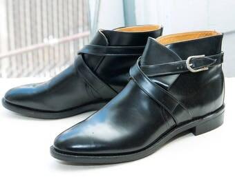 CHIPPEWA Jodhpur Boot, sz 11 B -- DEADSTOCK --> Black Leather
