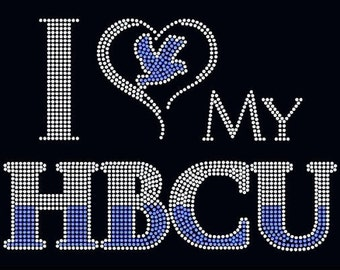 Zeta Phi Beta Sorority- Love My HBCU -Rhinestone Bling Tshirt-ZPB- Fitted Bling Shirt -All Sizes Available S to 3XL Fitted V-Neck Tshirts