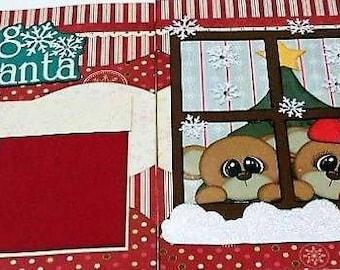Waiting for Santa 2-Page Scrapbook Layout