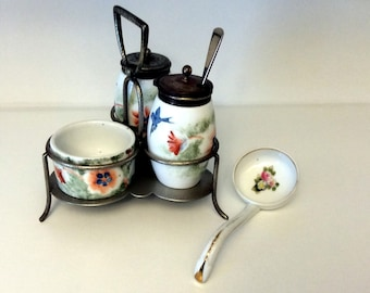 Japanese Condiment Tray with Nippon Mayonnaise Ladle