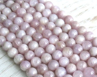 Kunzite beads, 5.7mm kunzite, full strand, pink kunzite beads, violet kunzite beads, pink kunzite, gemstone strand, beads for bracelets