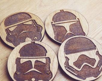 Storm Trooper Wooden Coasters