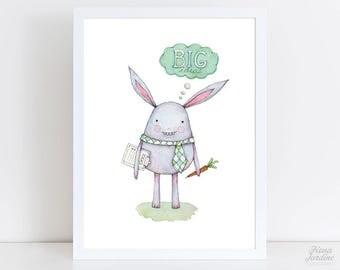 Monster Art Print / INSTANT DOWNLOAD / Wall Art / Nursery Decor / Nursery / Monster / Monster Art / Cute Monster Print / Printable / 8x10