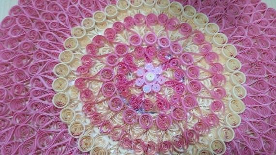 Quilled pink Mandala
