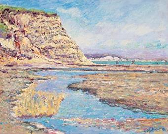 Drake's Beach Cliff Reflection