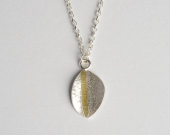 Sterling Silver and 18ct Gold Pendant