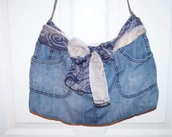 Bag made with jeans (Jeans bag)