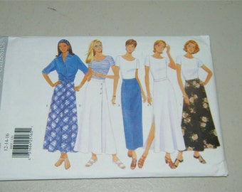 Butterick Skirt Long Pattern 4895 Size 12 14 16 12787 UNCUT
