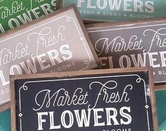 Market Fresh Flowers Sign  --  Magnolia Market Fixer Upper Joanna Fresh Flower Market