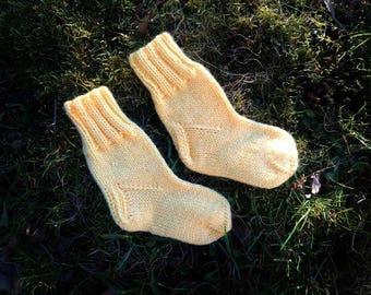 Newborn Handmade Knitted Socks