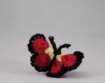 Crochet Applique 3D Butterfly, Made in Canada