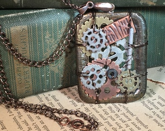 STEAMPUNK PENDANT and CHAIN