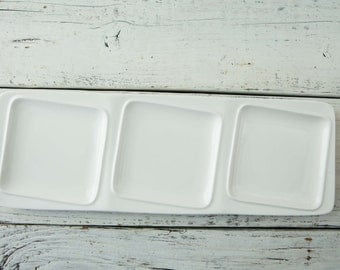 White Ceramic Rectangle Plate-Food Photography Props