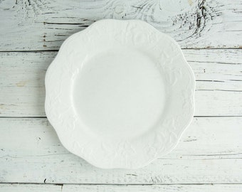 White Ceramic Plate-Food Photography Props