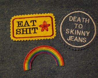 Iron on Patches Assorted Rainbow