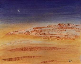 City of Bone Fine Art Signed Giclee Print Of Original Landscape Painting