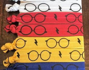 "5/8"" veces más lazos para el cabello con temática elástico Harry Potter, juego de 8, elástico de Harry Potter, Harry Potter Set de regalo, Harry Potter doble elástico"