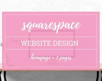 Squarespace Website Design - Web Template - Wedding Website Design - LulaRoe Web Design - Responsive Web Design - Squarespace Theme