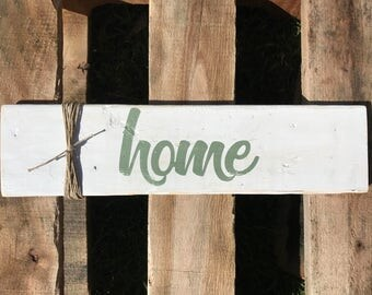 1 in stock Rustic Home sign, housewarming gift, wedding gift