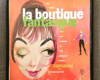 Framed La Boutique Fantastique 12inch Vinyl Record Retro Art