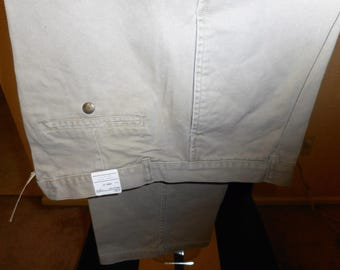 VINTAGE PERRY ELLIS Khakis 80's  36L   never worn,  still with tags on them