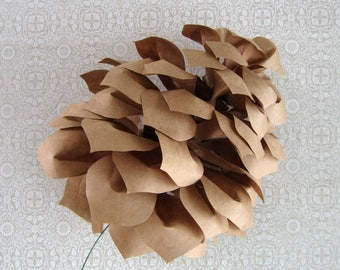 DIY Paper Giant Pinecone Pattern and Instructions PDF SVG