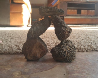 Bag of 5 Volcanic Lava Rocks - great for building aquarium caves, decorations