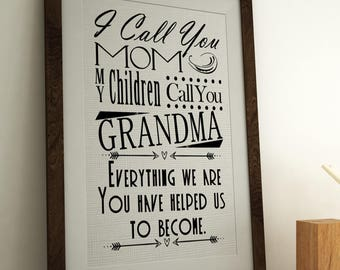 I Call you Mom Burlap Print *****FREE DOMESTIC SHIPPING*****
