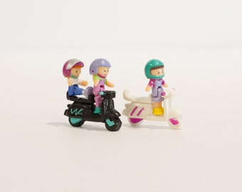 1994 - Complete - Vintage Polly Pocket  - Scooter Fun - Out 'n About (Bluebird Toys)