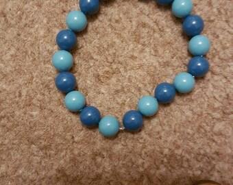 Blue beaded swarovski bracelet