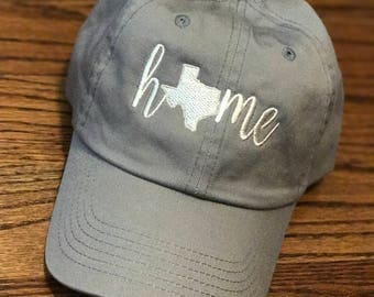 "Ladies' State of Texas ""home"" Baseball Cap"