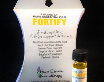 FORTIFY a blend of pure essential oils that are uplifting and helps support decisions