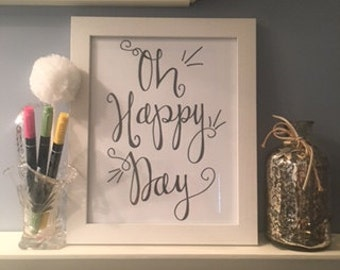 Oh Happy Day INSTANT DOWNLOAD printable